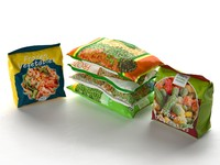 packed frozen food 3d model