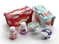 3d model ricotta cheese yogurts