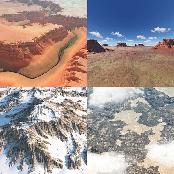 landscapes arizona realistic 3d model