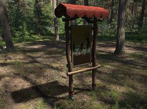 3d wood sign model