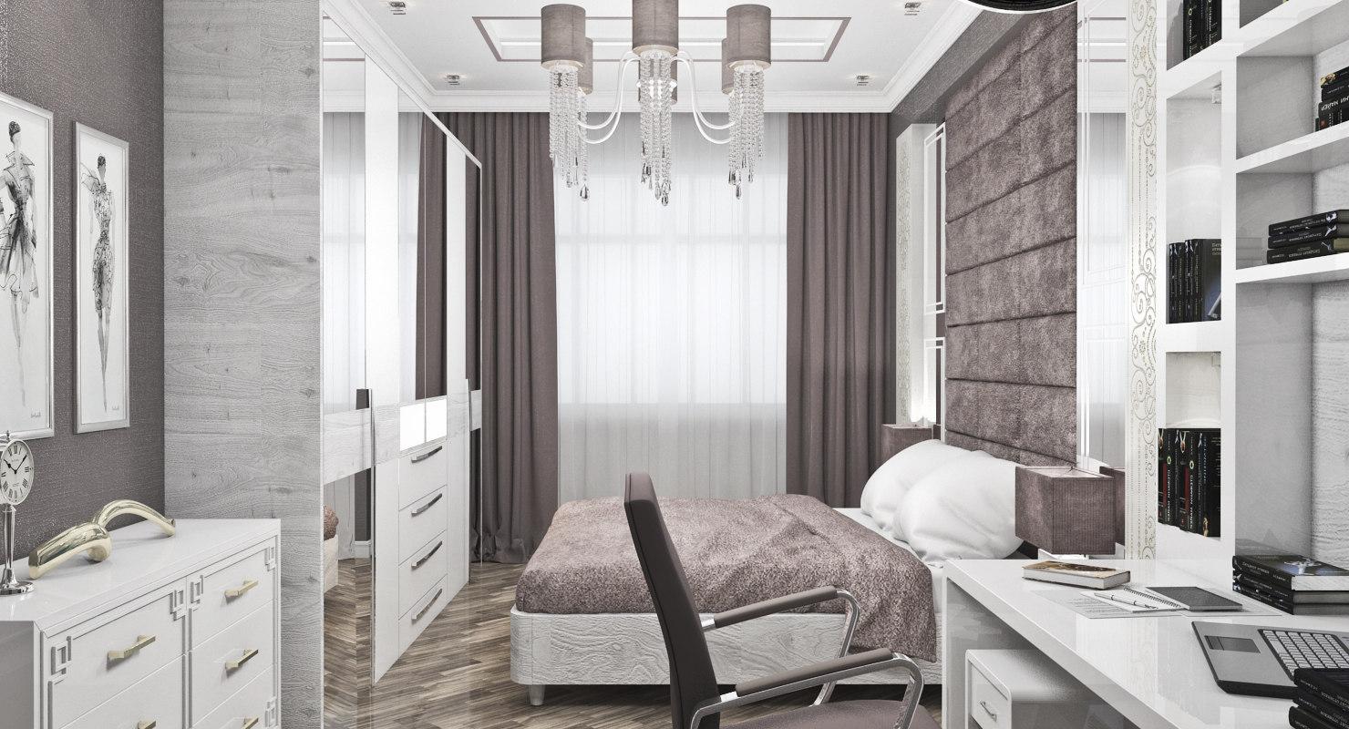 bedroom bed room 3d max