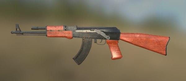 ak-47 rifle 3ds