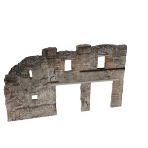 3d model ruined wall 06