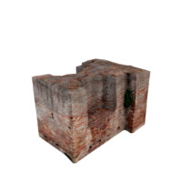 3d ruined wall 05 model