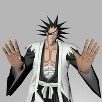 3d kenpachi zaraki rigging character model