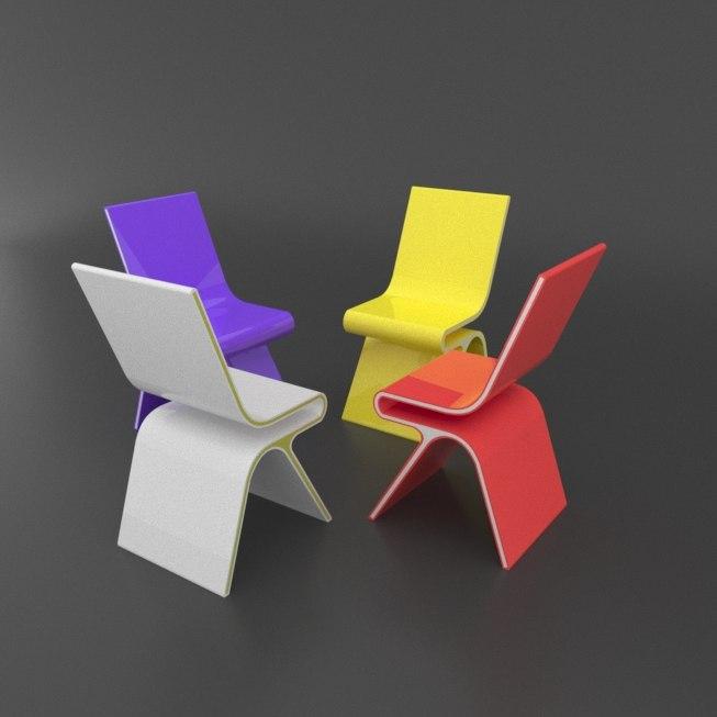3d model futuristic chair