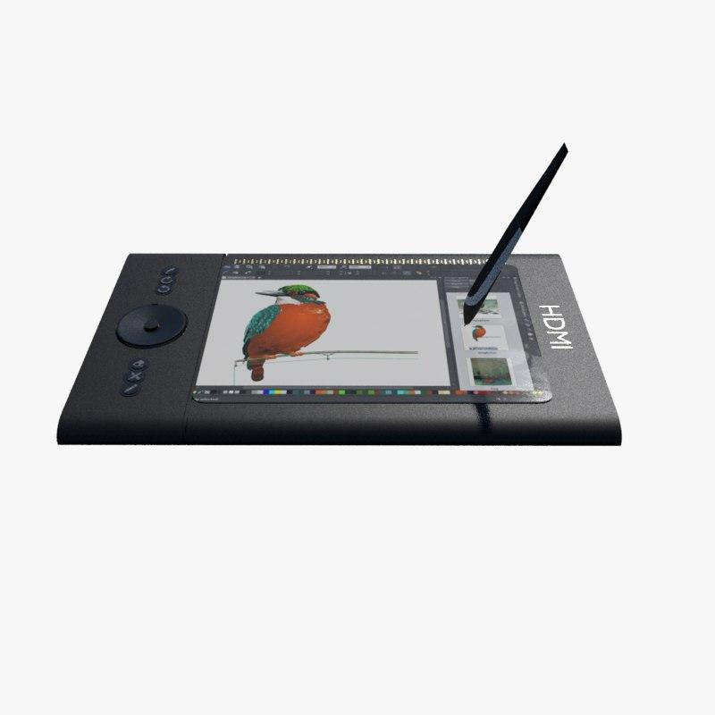 graphics tablet 3d obj