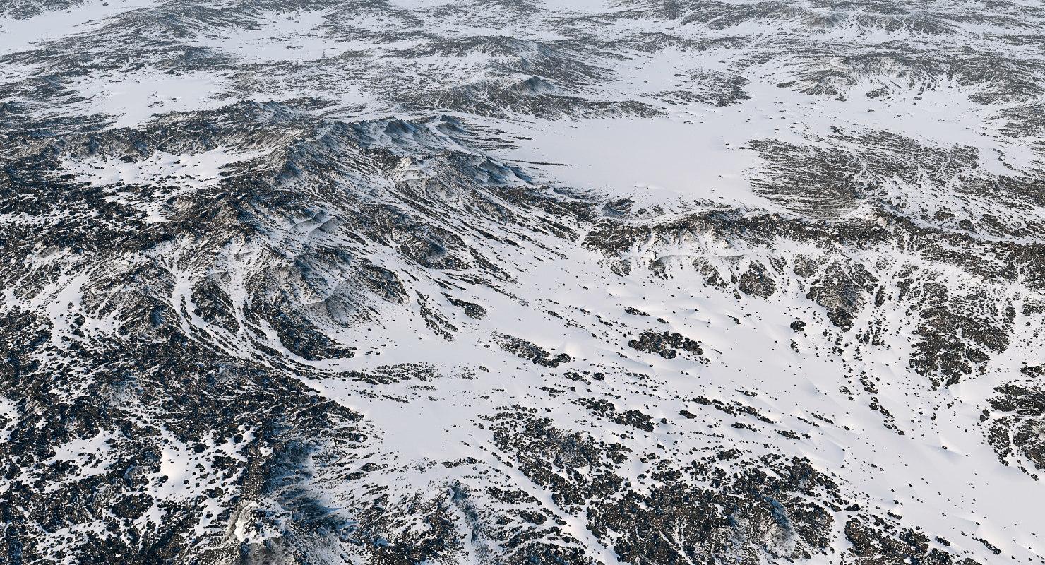 3d model arctic surface