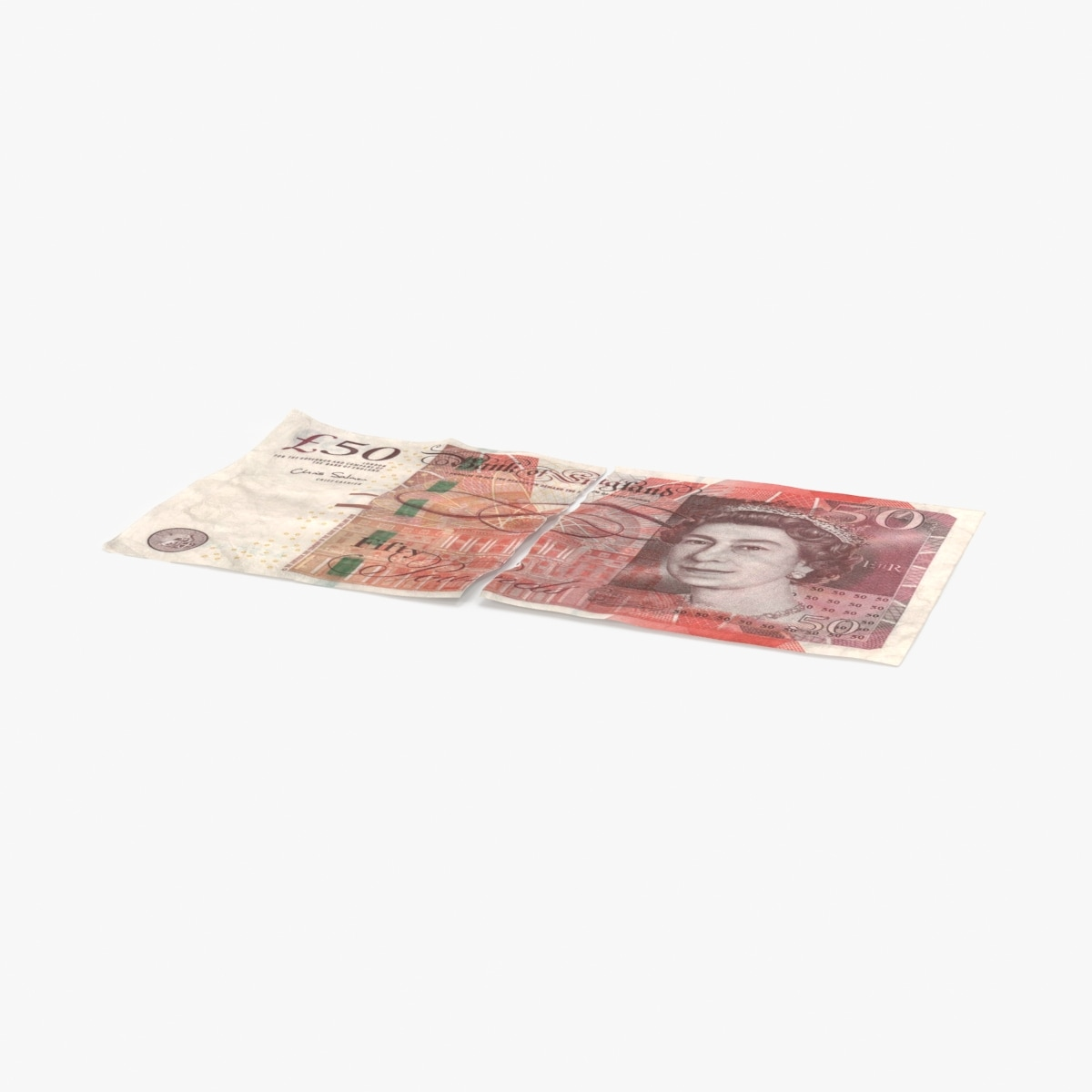 50-pound-note-torn 3d max