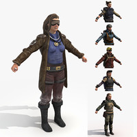 female rangers - wasteland fbx