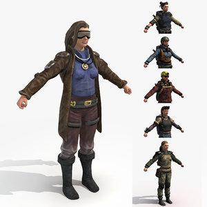 female rangers - wasteland fbx