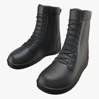 3d boots black model