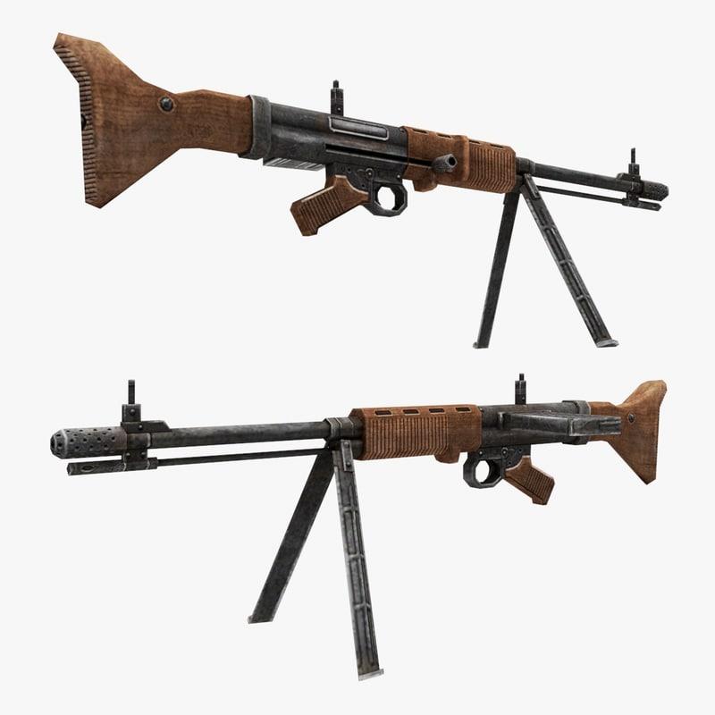 fg-42 gun 3d max