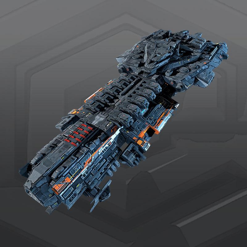 3d model spaceship