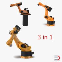 kuka robots rigged 4 3d max