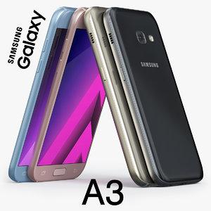 samsung galaxy a3 2017 3d max
