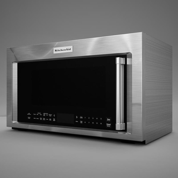 3d model realistic microwave