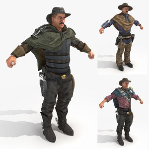 3d model male gippers - wasteland