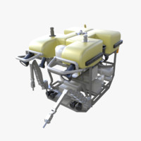 remotely rov subsea 3d model