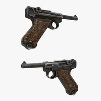 3d max luger gun