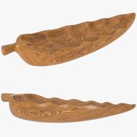 3d model loon4031 culebra decorative leaf