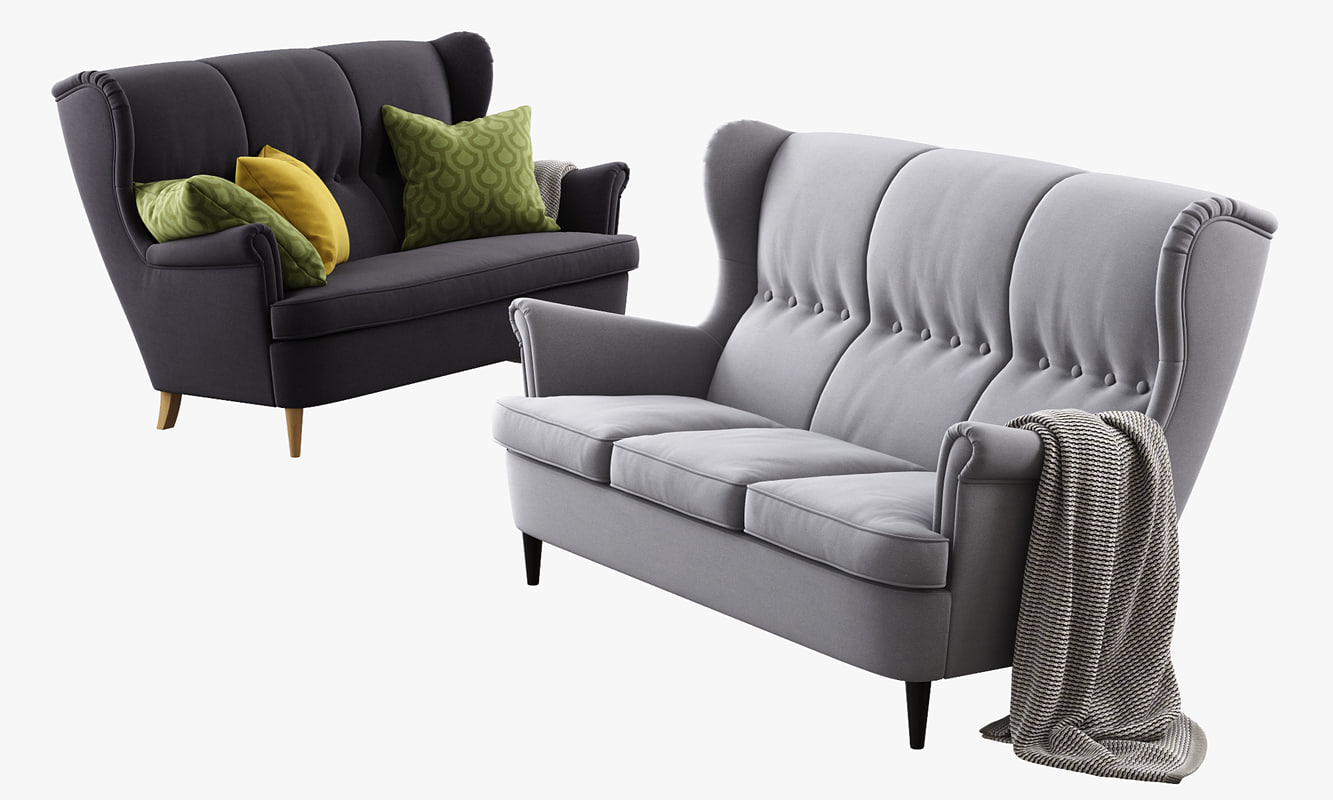 3d Max Ikea Strandmon Three Seat Sofa