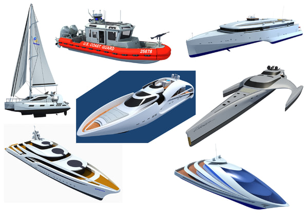 boats yachts 3d 3ds