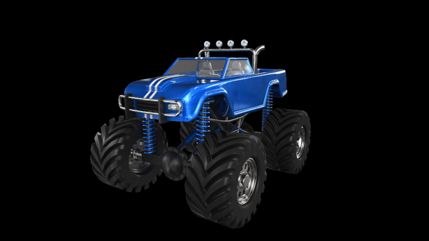 monster truck 3d model