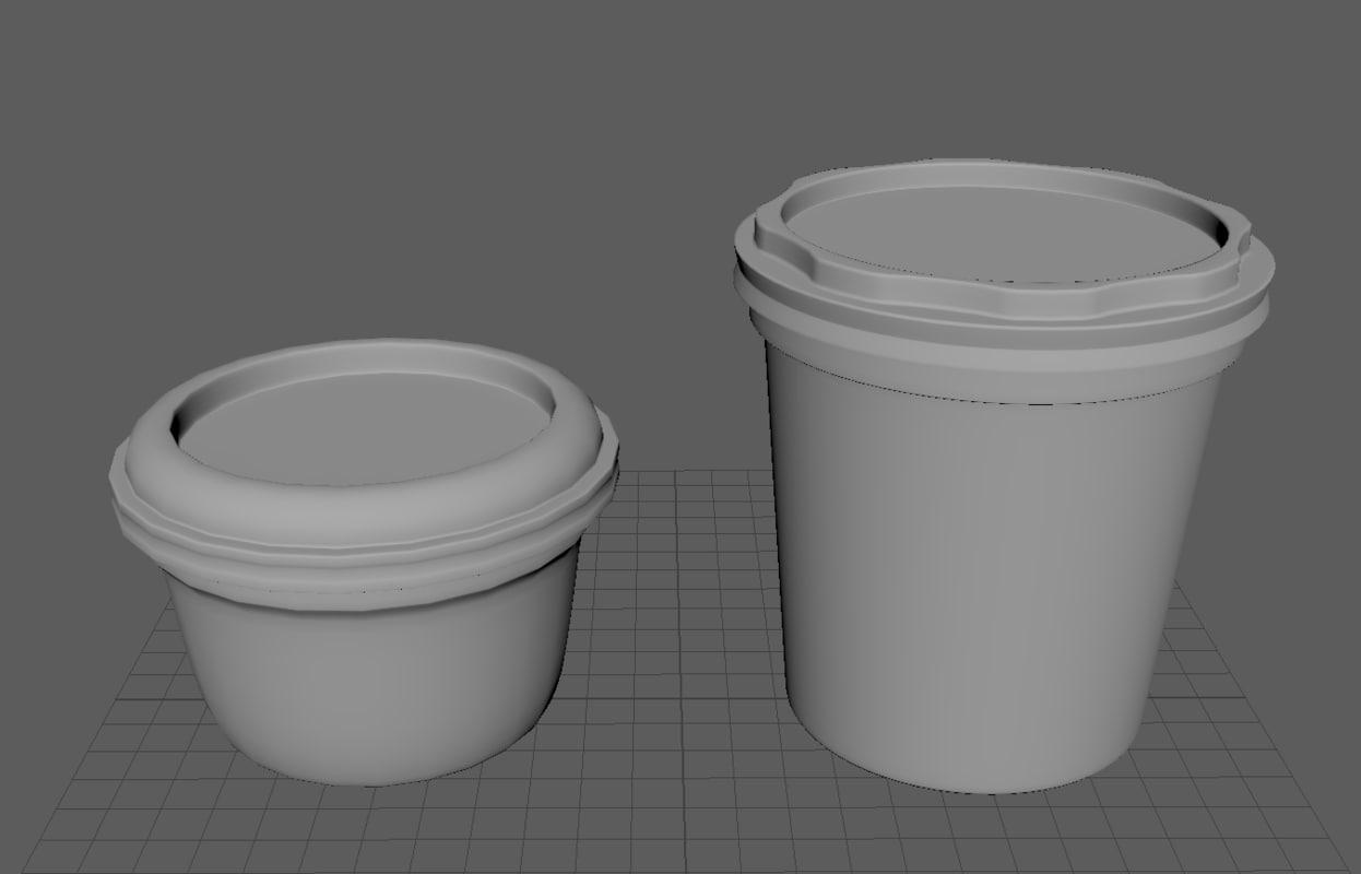 3d model butter - cream packs