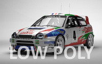 Toyota Corolla WRC Low Poly