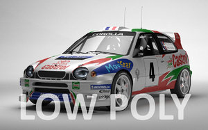 3ds toyota corolla wrc rally