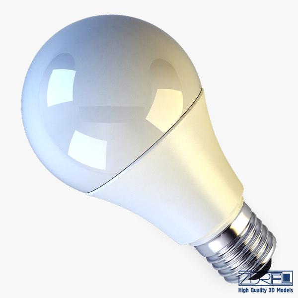 led lamp v 2 3d max