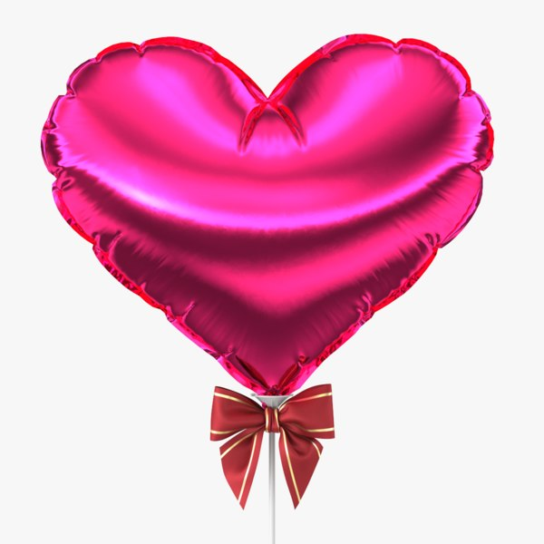 3d model realistic balloon heart