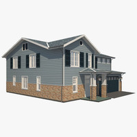 3d traditional house model