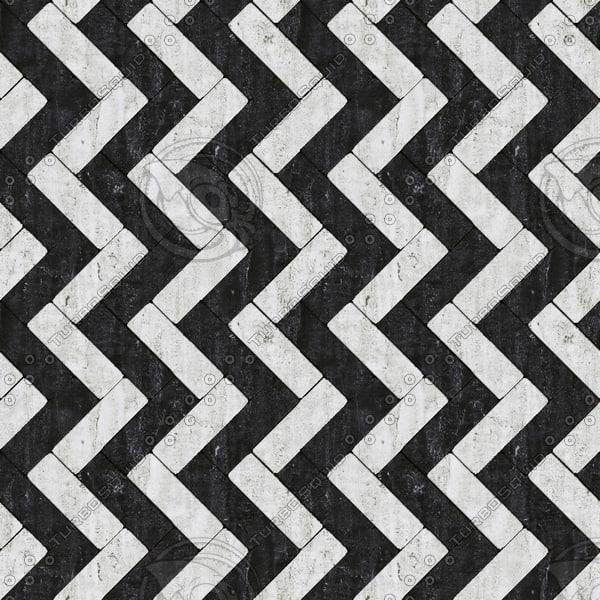 Seamless black white marble tile