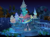 Cartoon Underwater Palace