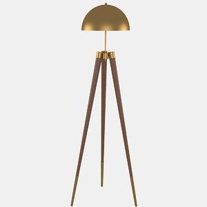 3d floor lamp light model