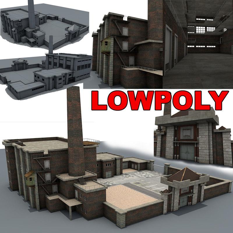 3d factory games buildings