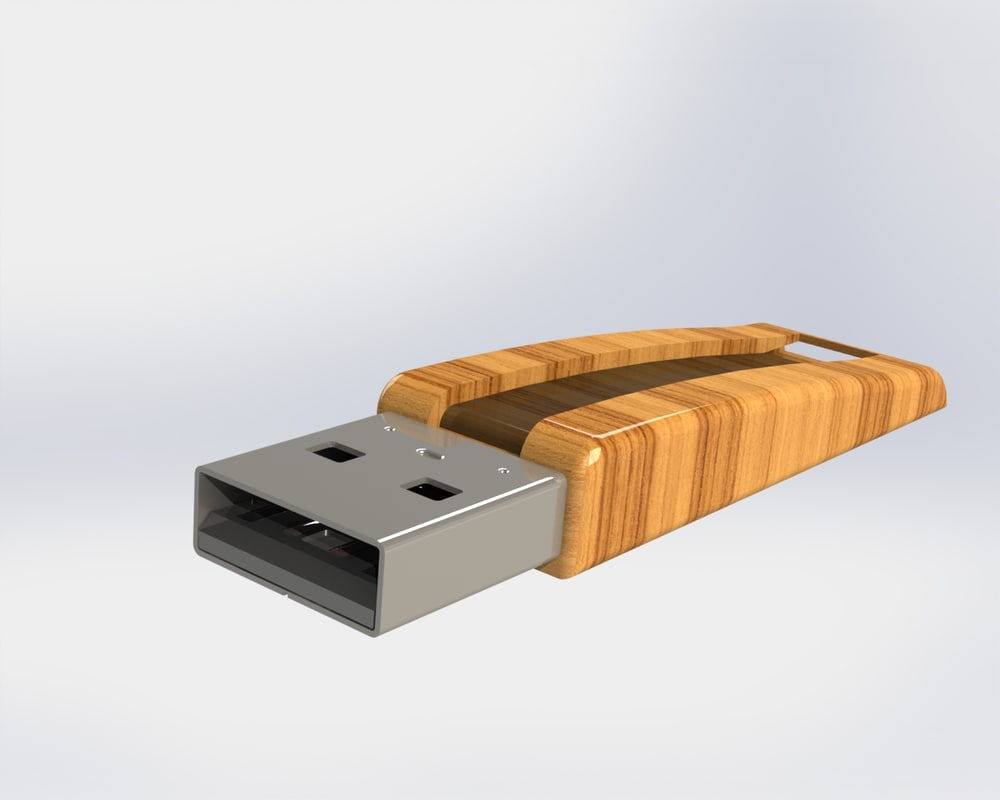 solidworks decorative usb cover 3ds
