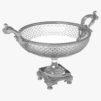 silver glass vase 3d model