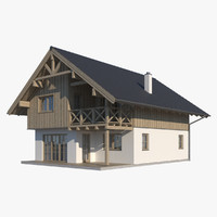 cottage roof realistic 3d model