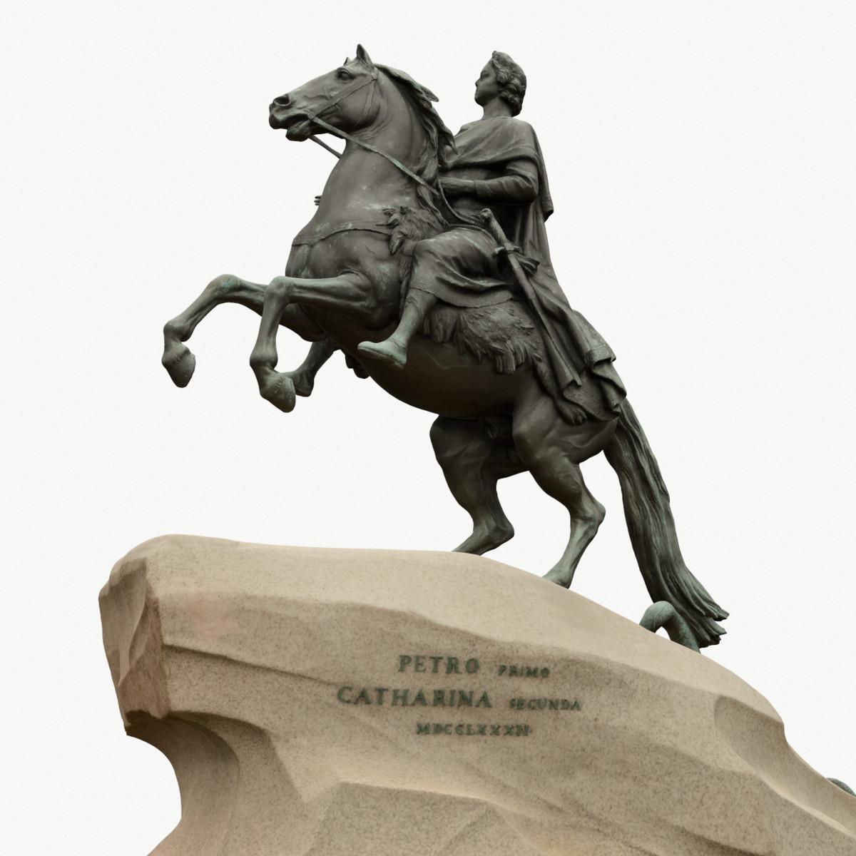 statue peter great 3d model