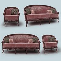 3d classic sofa armchair
