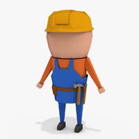 simple builder 3d model