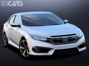 3d model honda civic