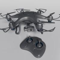 3d drone quads