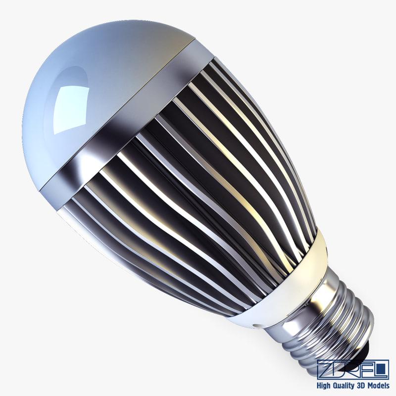 led lamp v 1 3d max