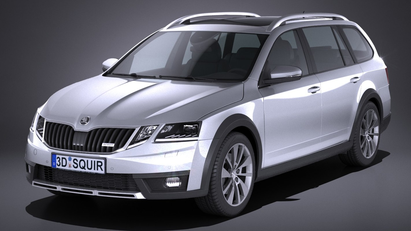 skoda octavia scout 3d model. Black Bedroom Furniture Sets. Home Design Ideas