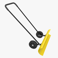 snow shovel wheels 3d model