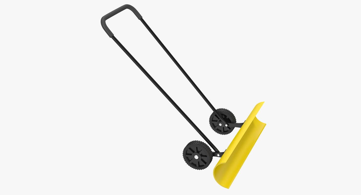 snow shovel wheels 3d model